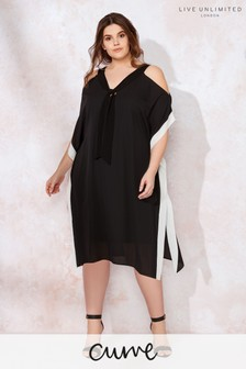 Live Unlimited Mono Kaftan Dress With Ties