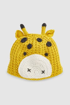 ff1f38fcab1 Giraffe Knit Hat (0mths-2yrs)