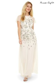 Phase Eight Ivory Multi Colette Embroidered Dress