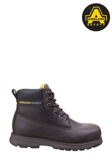 Amblers Safety Brown AS170 Lightweight Full Grain Leather Safety Boots