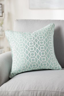 Woven Geo Jacquard Square Cushion