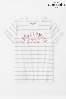 Abercrombie & Fitch White Stripe Tee