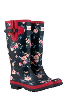 Cath Kidston® Blue Paintbox Flowers Printed Wellington Boot