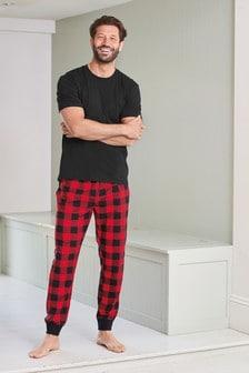 Check Cosy Cuffed Pyjama Set