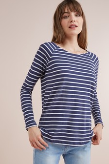 Stripe Longline Top