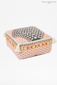 French Connection Pink Poppy Pouffe Cushion