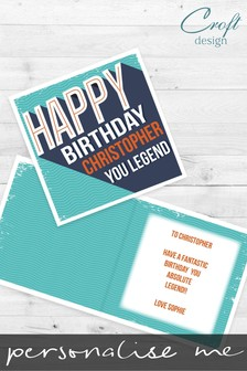 Personalised You Legend Birthday Single Card by Croft Designs
