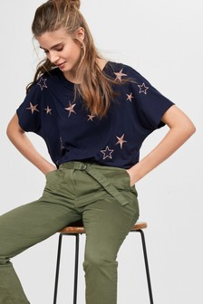8ffc5e83be3e22 Star Embroidered Tee