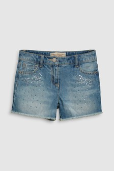 Sparkle Denim Shorts (3-16yrs)