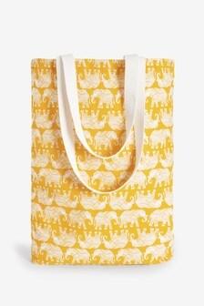 Elephant Print Shopper Bag