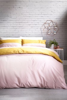 2 Tone Panel Duvet Cover And Pillowcase Set