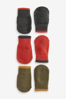 Black/Rust                     3 Pack Mittens (Younger)