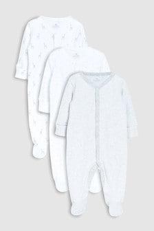 幾何長頸鹿印花睡衣三件裝 (0個月至2歲)