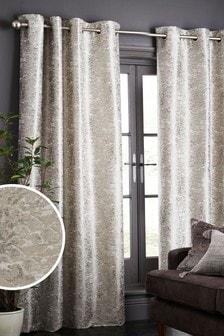 Жаккардовые шторы мраморной расцветки с люверсами