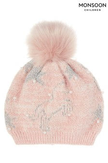 Monsoon Orla Unicorn Fluffy Hat