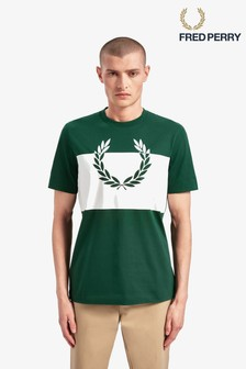 Fred Perry Printed Laurel Wreath T-Shirt