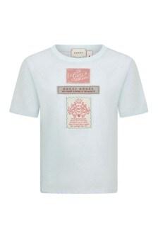Boys Light Blue Cotton T-Shirt