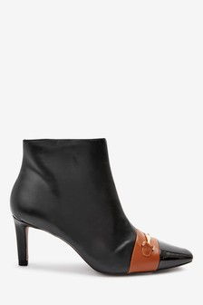 Forever Comfort® Hardware Detail Ankle Boots