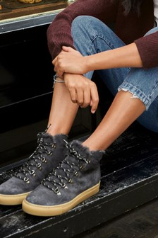 Signature Lace-Up High Top Trainer Boots