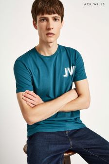 Jack Wills Teal Archibald Graphic Tee