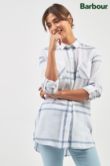 Barbour® White Oversized Check Shirt