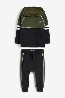 Colourblock Hoody And Jogger Set (3mths-7yrs)