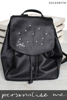 Personalised Studded Faux Leather Backpack by Solesmith
