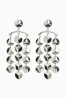 Statement Metal Drop Earrings