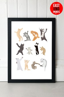 Dancing Cats by Hanna Melin Framed Print