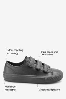 Leather Triple Strap Shoes (Older)