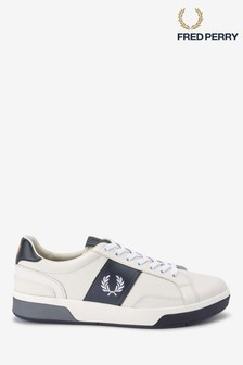 Fred Perry White Leather Trainers