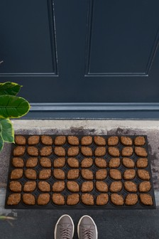 Large Floral Rubber Doormat