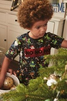 Рождественскаядетская футболка с двусторонними пайетками(коллекциядля всей семьи) (3-16 лет)