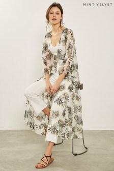 Mint Velvet Metallic Floral Print Kimono