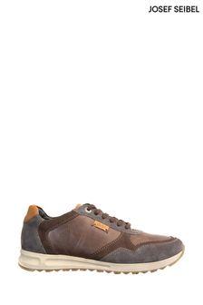 Josef Seibel Brown Thaddeus Tri-Colour Leather Trainers