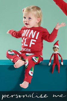 Personalised Mini Elf Pyjamas