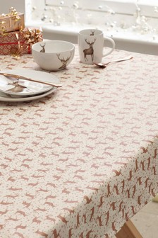 Metallic Wipe Clean Tablecloth