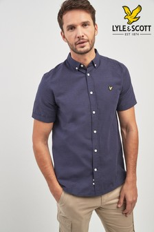 Lyle & Scott Navy Run Stitch Shirt