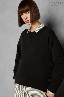 Ted Baker LOLII Black Slogan Sweater