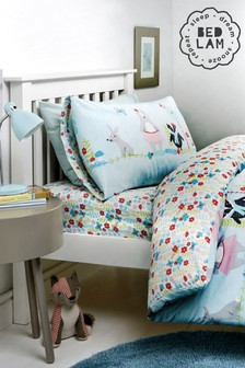 Woodland Fox Duvet Cover and Pillowcase Set by Bedlam