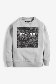 Animal Future Long Sleeve Crew Sweater (3-16yrs)