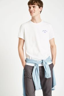 Jack Wills White Clayesmoore Graphic Tee