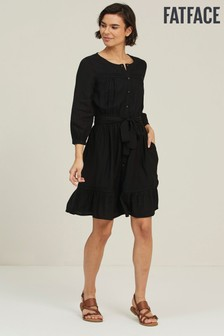 Fat Face Black Vienna Dress
