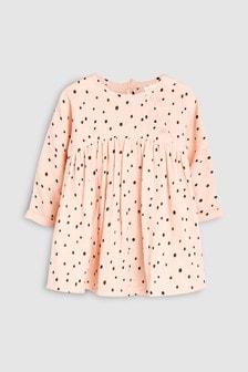 Spot Print Dress (0mths-2yrs)