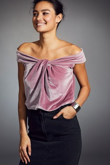 Velvet Bardot Top
