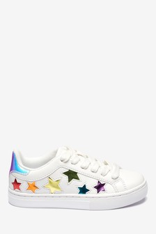 Rainbow Star Lace-Up Trainers (Older)