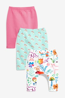 6-9 Months Baby Girls Trousers Bundle 9 Pairs
