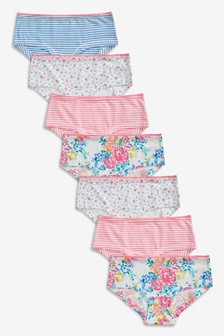 Floral Hipster Briefs Seven Pack (2-16yrs)