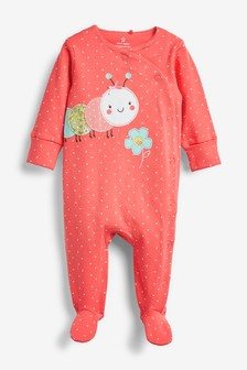 Caterpillar Appliqué Sleepsuit (0mths-2yrs)