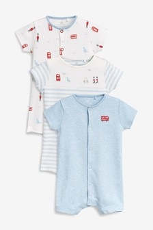 Clothing, Shoes & Accessories Next Baby Boy Blue/white Summer Rompers/all-in-ones/playsuit Age Up To 3 Months